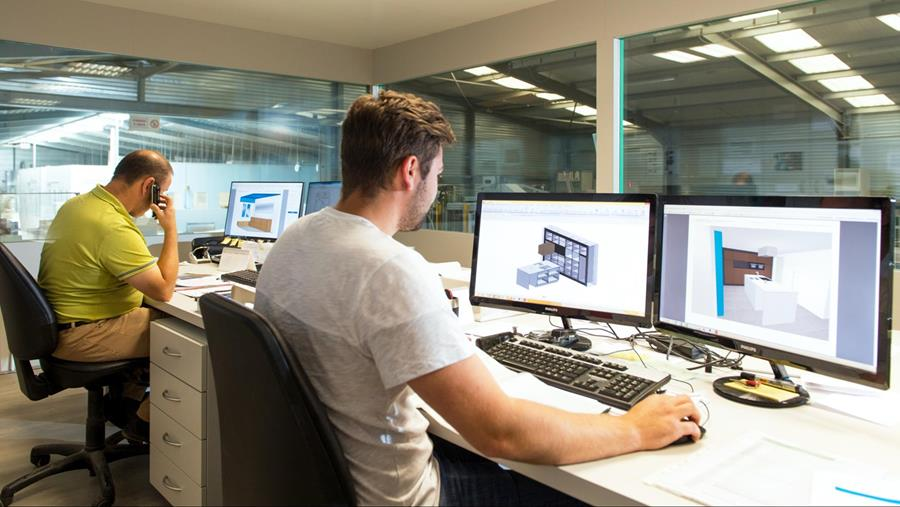 Van tekening tot de totale automatisering van de productie, met de oplossingen van Vlecad gebeurt dat allemaal erg gestroomlijnd